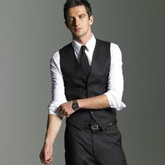 I wonder if I could pull off a vest on a semi-regular basis without a coat.
