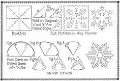 Paper Snowflakes - Top Crafts For Kids Paper Snowflake Patterns, Snowflake Template, Snowflake Craft, Paper Snowflakes, Snowflake Designs, Paper Patterns, Noel Christmas, Christmas Crafts, Christmas Paper