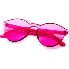 SheIn(sheinside) Pink Clear One Piece Retro Style Sunglasses ($13) ❤ liked on Polyvore featuring accessories, eyewear, sunglasses, retro style glasses, beach sunglasses, retro glasses, pink sunglasses and retro eyewear