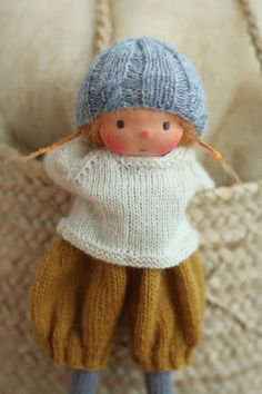 A personal favorite from my Etsy shop https://www.etsy.com/listing/535688785/waldorf-doll-soft-doll-knitted-doll