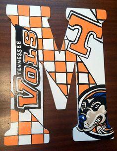 University of Tennessee Vols Hand Painted Door by DAMartndesigns, $58.00