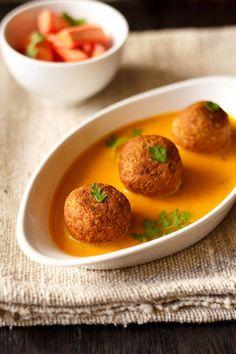 Lauki Kofta Curry - Tomato Based Curry with Bottle Gourd Koftas