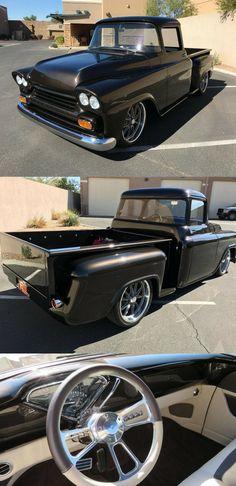 Vintage Trucks For Sale, Custom Trucks For Sale, Chevrolet Apache, Pickups For Sale, Power Rack, Vintage Air, Rear Seat, Pick Up, Classic