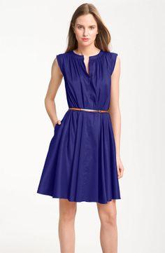 Navy blue pleated summer dress, from Nordstrom.com