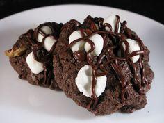 Giant rocky road cookies