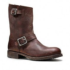 Frye for Coach Rogan Engineer Boot. I think I need to get my hands on these.