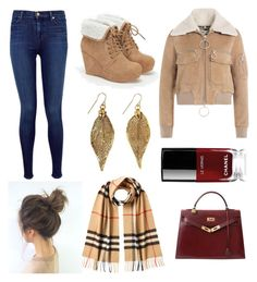 """""""Fall Outfit"""" by laramie-parr on Polyvore featuring Off-White, J Brand, JustFab, Burberry, Chanel and Hermès"""