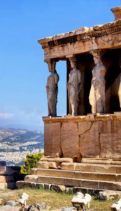 Célèbre ancienne Porche des Caryatides, Athènes, Grèce |  25 magnifiques photos…