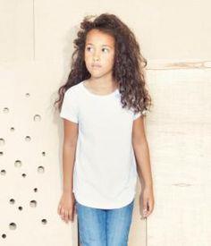 Meisjes t-shirt met korte mouw, 150 gr/m2