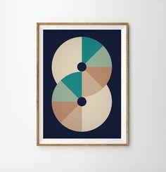 Poster Art retro art retro poster Geometric by angelaferrara, $26.00