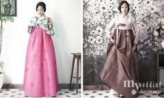 """Hanbok (Corea del Sur) o Choson-ot (Corea del Norte) es el vestido tradicional coreano. A menudo se caracteriza por sus colores vibrantes y líneas simples sin bolsillos. Aunque el término significa literalmente """"ropa coreana"""", hanbok hoy a menudo se refiere específicamente a hanbok de la dinastía Joseon y se usa como ropa semi-formal o formal durante las fiestas y celebraciones tradicionales."""