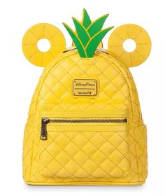 Pineapple Mickey Loungefly Collection Is Tropical Treat - - Aloha! Loungefly and shopDisney are getting us ready for summer! You can now enjoy tropical sweet style with the new Pineapple Mickey Loungefly Collection! Pineapple Backpack, Cute Disney Outfits, Disney Clothes, Cute Mini Backpacks, Disney Purse, Disney Handbags, Disney Merchandise, Cute Bags, Backpack Bags