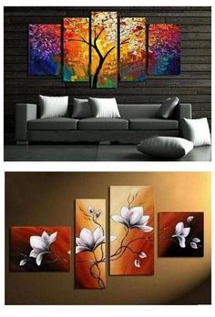 Extra large hand painted art paintings for home decoration. Large wall art, canvas painting for bedroom, dining room and living room, buy art online. 5 Piece Canvas Art, Canvas Wall Art, Large Canvas, Extra Large Wall Art, Large Art, Canvas Paintings For Sale, Art Paintings, 3 Canvas Painting Ideas, Multiple Canvas Paintings