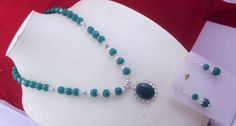 free shippings  ms-2 Stunning Awesome look sober look Green Onyx .925 Silver Handmade Beaded Necklace Jewlery by SILVERHUT on Etsy
