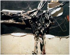 MANUEL MILLARES. Cuadro 173 (1962. Mixed media. 130 x 163 cm.
