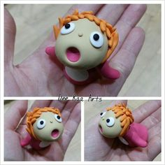 Dee Raa Arts Ponyo ponyo polymer clay fimo sculpey cute ghibli studio ghibli miniature small adorable ponyo fish kawaii