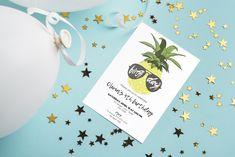 Birthday invitation template with pineapple Coding, Bird, Celebrities, Day, Celebs, Foreign Celebrities, Birds, Celebrity, Programming