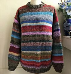 Tripoli Marble Mix Chunky Unique Sweater Hand knitted by Bexknitwear  #Bexknitwear #Jumpers