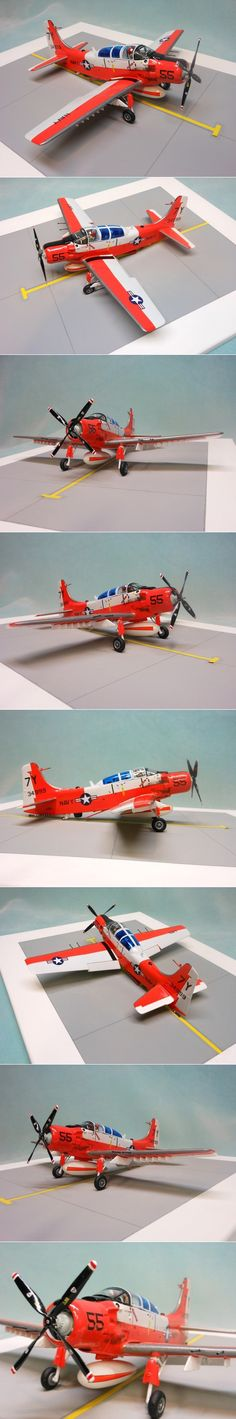 Skyraider AD-5 (This is the 1/48 Revell kit done in acrylics)