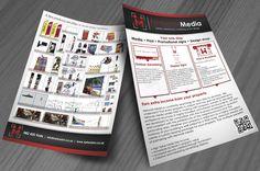 Network Media Flyer Design Flyer Design, Flyers, Advertising, Ruffles, Leaflets