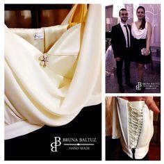 Vestido linha festa design exclusivo by Bruna Baltuz sob medida para Rita Meira