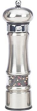 "William Bounds 9"" Satin Metal Pepper Mill on shopstyle.com"