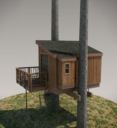 20 DIY Tree House Plans & Design Ideas for Adult and Kids - decoratoo Building A Treehouse, Build A Playhouse, Building A Shed, Treehouse Ideas, Treehouse Supplies, Indoor Playhouse, Tree House Plans, Tree House Designs, Tree Canopy
