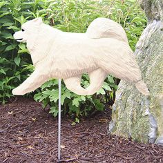Samoyed Dog Figure Garden Stake. Home Yard & Garden Dog Breed Products & Gifts.