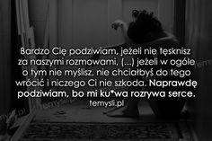 TeMysli.pl - Inspirujące myśli, cytaty, demotywatory, teksty, ekartki, sentencje Happy Photos, Sentences, Crying, Sad, Motivation, Feelings, Words, Quotes, Life