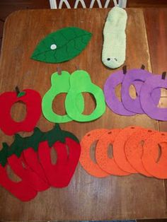 The Very Hungry Caterpillar {Felt food and sock puppet} made this last year, 3 kits, somewhat labor intensive, but great set!