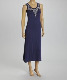 Another great find on #zulily! Blue Embroidered Sleeveless Dress by BellaBerry #zulilyfinds
