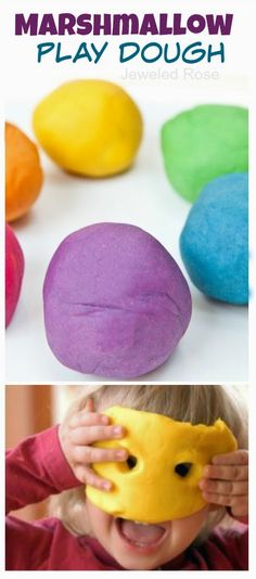 Marshmallow Dough - the most delightfully squishy and fluffy play dough, and you likely have all of the ingredients right in your pantry! {Taste-safe!}