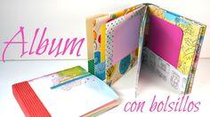 Álbum con bolsillos y encuadernación de espina PASO A PASO   Scrapbookin...