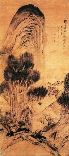 清代 - 石濤 - 采菊圖  北京故宫博物院