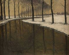 Max Clarenbach (1880-1952) - Winter at the Erft