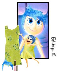 """//Inside Out// ""Joy Style"" ~Grace"" by ison-friends-with-hall ❤ liked on Polyvore featuring Disney, Clarins, insideout and beldesigns16"