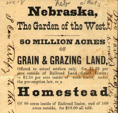 RedStateEclectic : The Homestead Act - Politics, Legislation, and ...