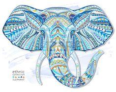 44179695-etnica-testa-fantasia-di-elefante-sullo-sfondo-grange--disegno--totem--tatuaggio-africano--indiano-u.jpg (350×280)