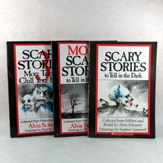 Vintage Scary Stories To Tell In The Dark Books 13 by LeftHandPath, $45.00