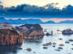 Ponza, Italy. We sailed to this Island a couple of times. Sometimes just for lunch. It's very rustic and beautiful, and sitting by the water with a scrumptious seafood meal- and wonderfully witty company- will be a memory I'll enjoy for a long time!