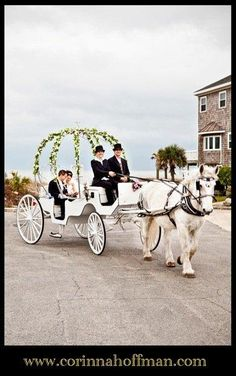 10 ways to include a Horse Carriage in your Wedding