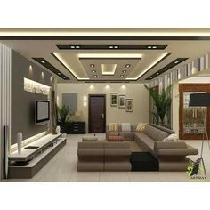 Best False Ceiling Designs, False Ceiling For Hall, Gypsum Ceiling Design, Interior Ceiling Design, House Ceiling Design, False Ceiling Bedroom, Ceiling Design Living Room, Bedroom False Ceiling Design, Room Interior