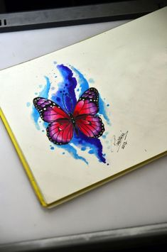 Tattoo watercolor sketch inspiration 46 ideas for 2019 Watercolor Butterfly Tattoo, Butterfly Tattoo Cover Up, Butterfly Sketch, Butterfly Tattoo Meaning, Butterfly Tattoos For Women, Butterfly Tattoo Designs, Watercolor Sketch, Watercolor Ideas, Butterfly Art