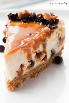Butterscotch Chocolate Chip Cheesecake