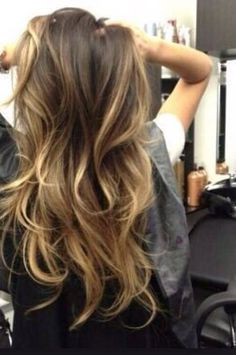 perfect ombre just a little shorter... more around face but on both sides for middle and side part! #Baylagehair