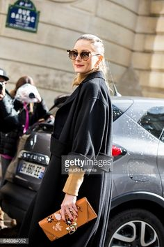 Olivia Palermo is seen in the streets of Paris before the Valentino show during Paris Fashion Week Womenswear Fall/Winter 2017/2018 on March 5 2017...