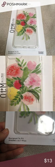 On the move essentials OTM iPhone 6 and 7+ case On the move essentials OTM iPhone 6 and 7+ case.  Beautiful floral design.  Case is made from durable soft plastic. Woman owned company design printed and packaged in the US using imported materials.  One year warranty.   New in box on the move essentials Accessories Phone Cases