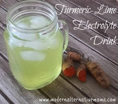 Skip the sugary sports drinks with yucky artificial ingredients, and make this delicious turmeric-lime version at home!