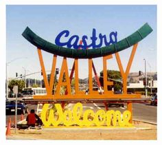 this sign is gone, public protest to have it removed for extreme ugly-ness in spite of expenses  Castro Valley, CA