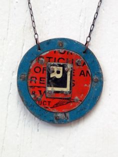 vintage tin necklace